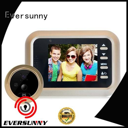 night digital peephole door viewer with motion sensor manufacturer for apartment Eversunny