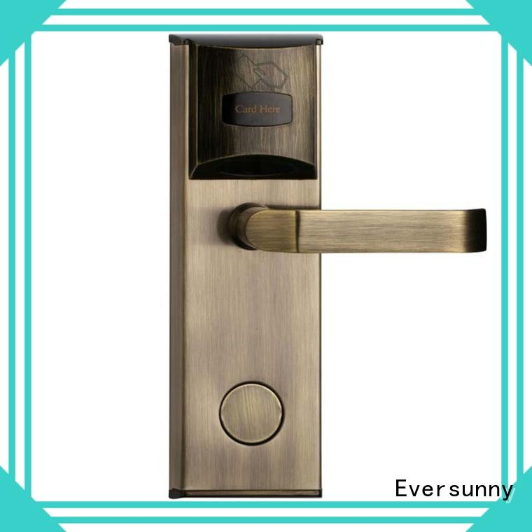 Eversunny practical hotel card lock hotel smart locks for hotel