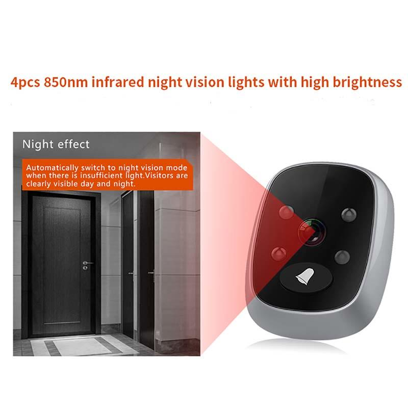 Eversunny digital door peephole power-saving for sliding door-3