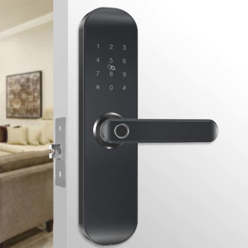 Electronic homehold smaller fingerprint keyless door lock with APP control