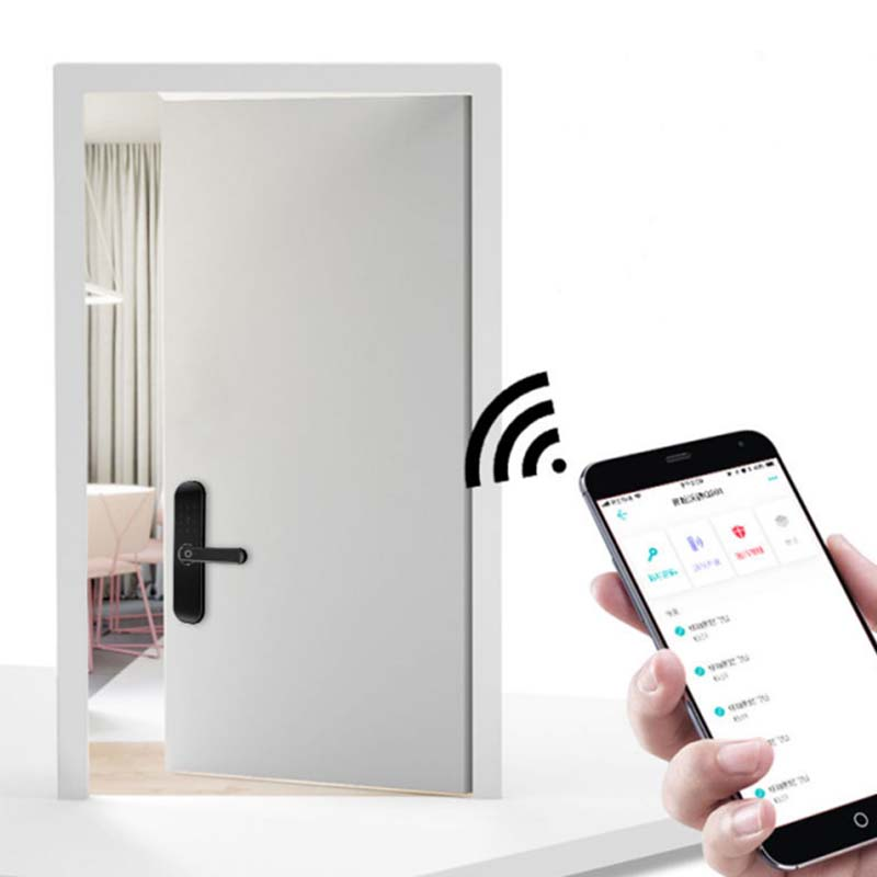 smart keyless door lock touch screen for office-6
