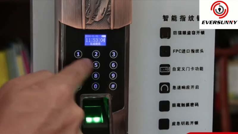Password and fingerprint door lock installation video KB808