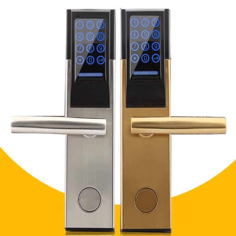 Digital Smart Touch Screen Keypad Key Code Door Lock