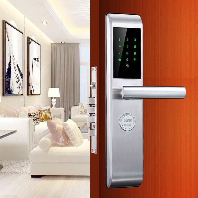 Smart Code Door Lock Fingerprint and Touchscreen Keyless with Visual Menu Display