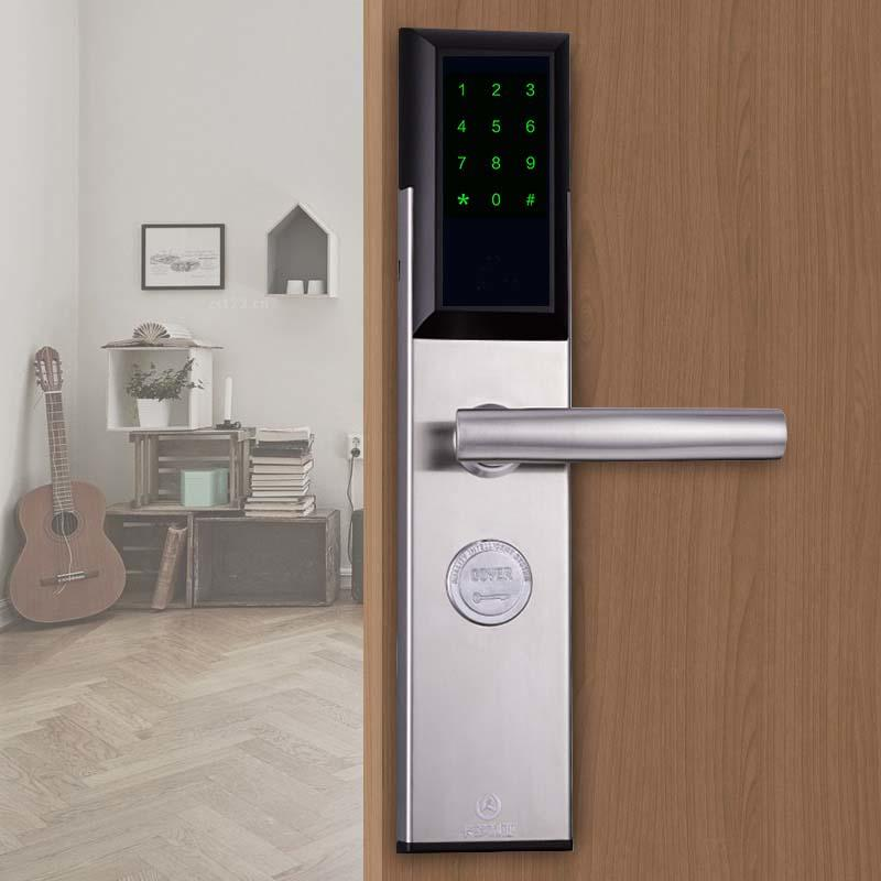 Smart key card door lock with password code bluetooth with 5 lock tongues