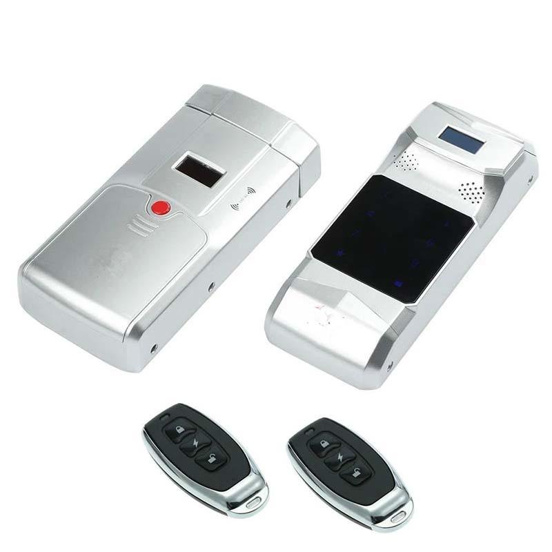 Electronic password and fingerprint stealth door lock with remote controlled keys