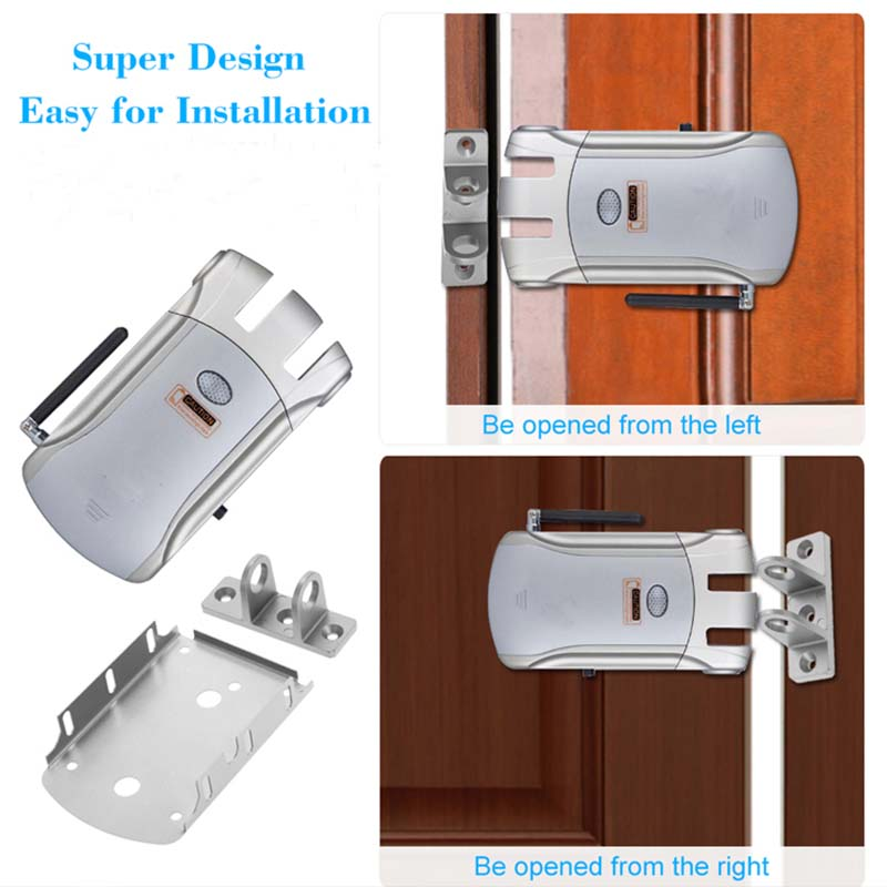 Eversunny simple remote control door lock mobile controlled for villa-5