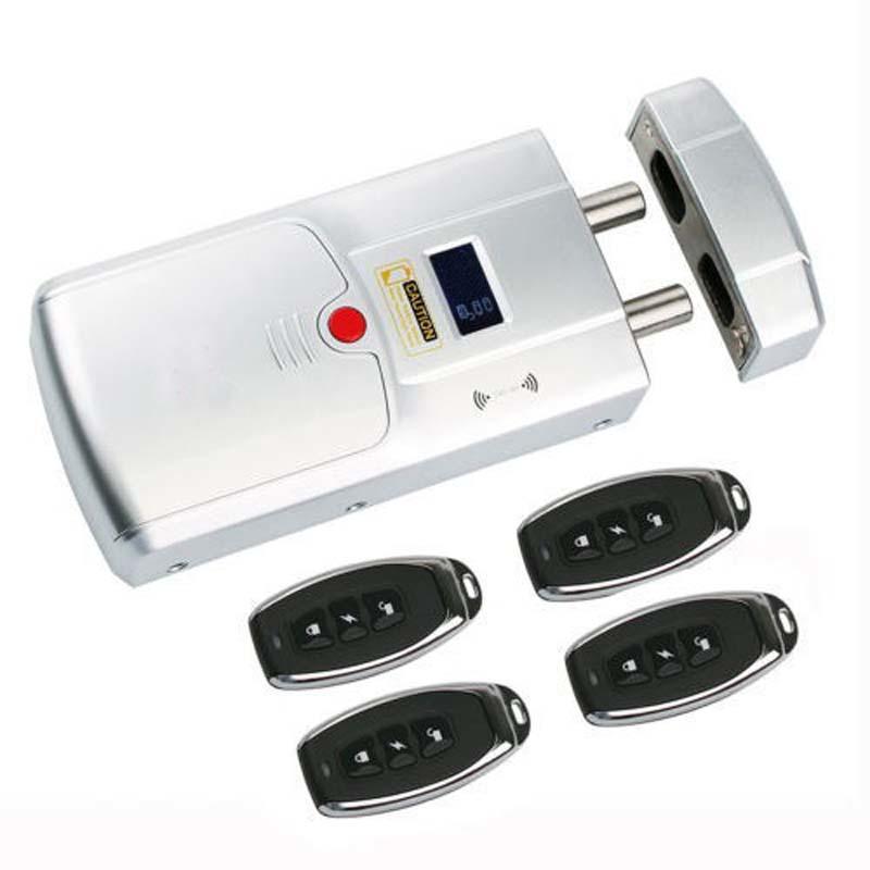 Invisible hidden electronic door lock