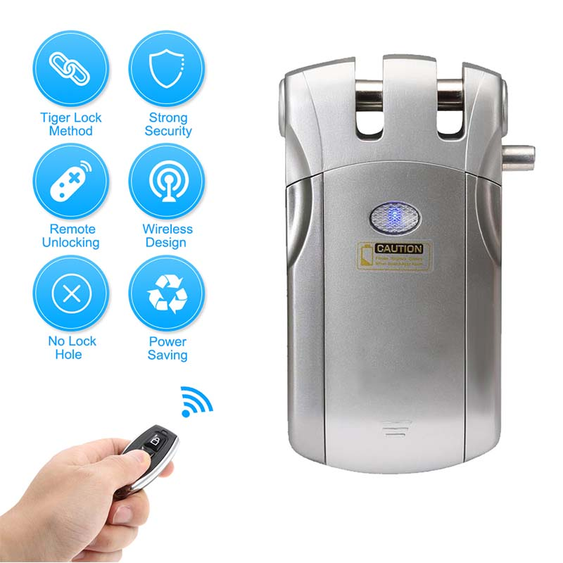 Wireless smart  invisible concealed door lock mobile controlled-4