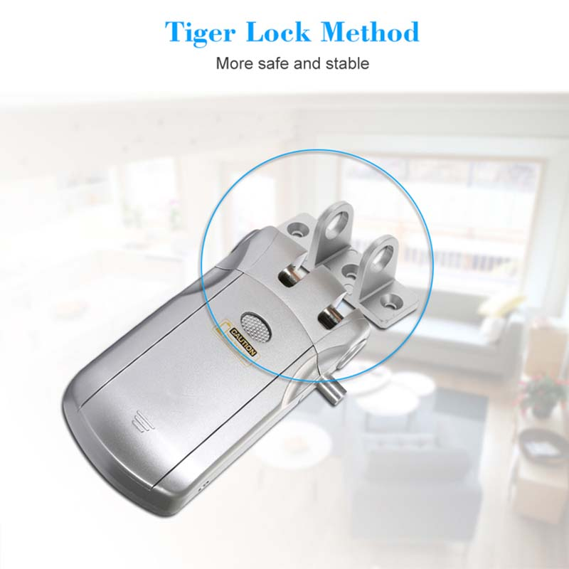 Wireless smart  invisible concealed door lock mobile controlled-5