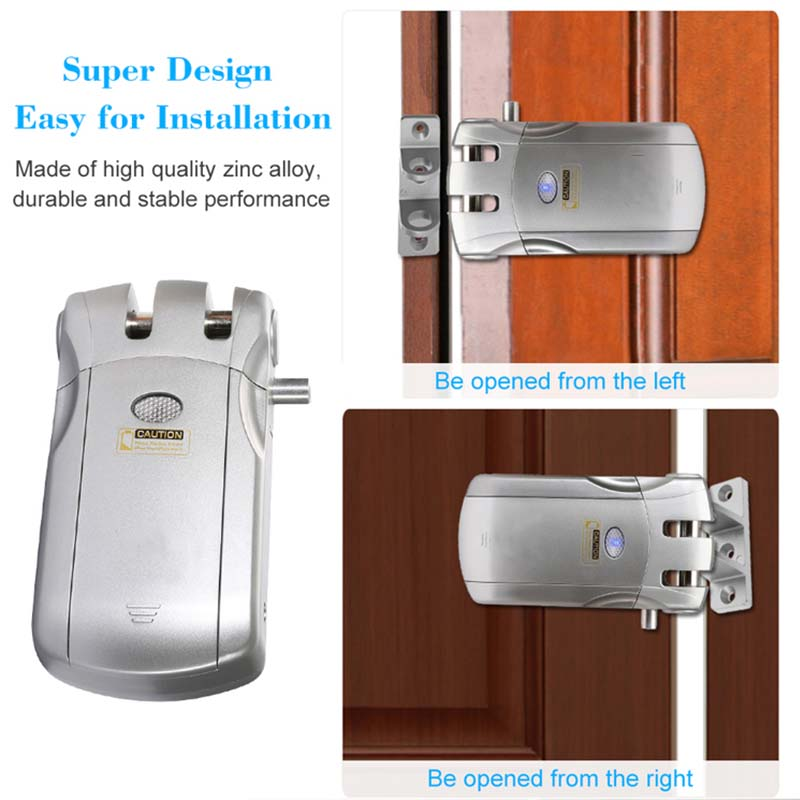 Wireless smart  invisible concealed door lock mobile controlled-6