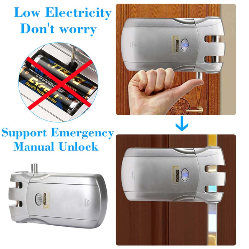 Wireless smart  invisible concealed door lock mobile controlled-7