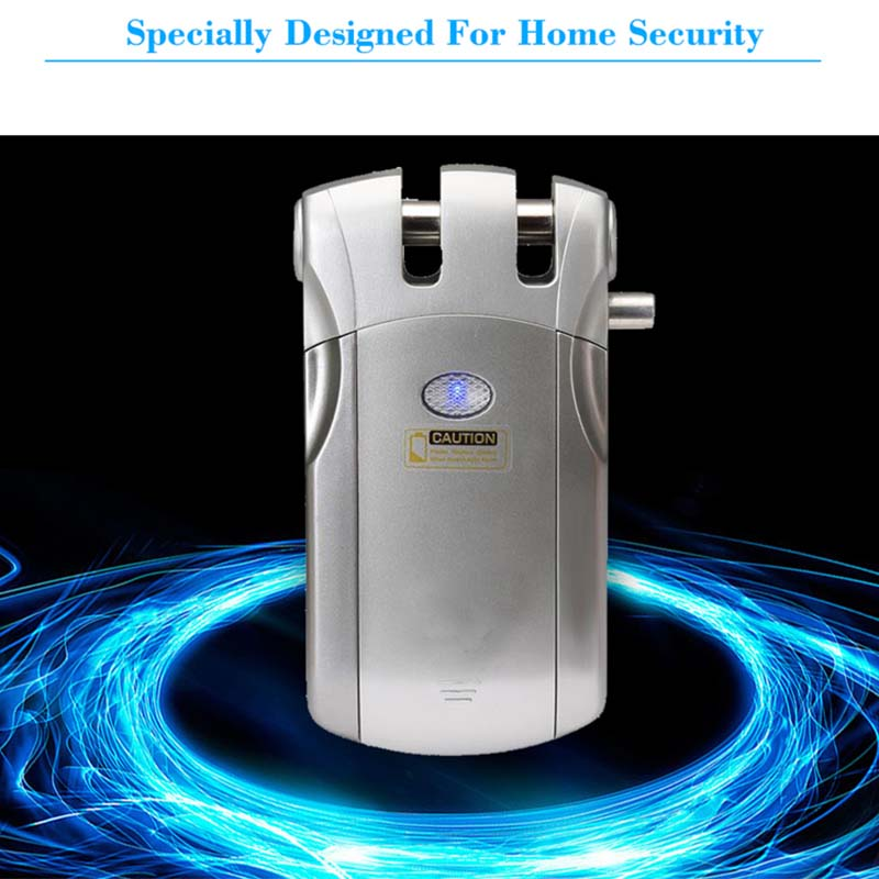 Wireless smart  invisible concealed door lock mobile controlled-9
