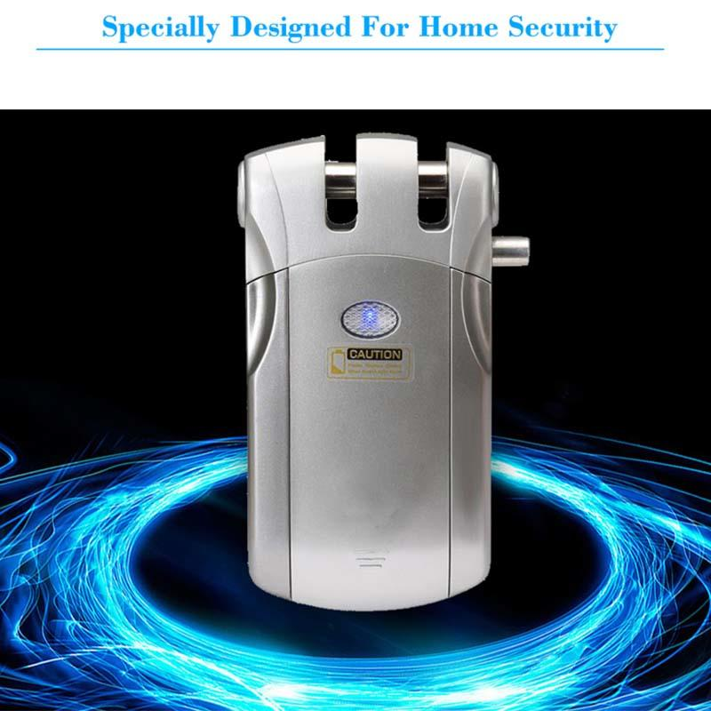 smart remote control house door lock mobile controlled for residence