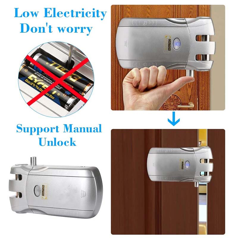 safe wifi remote door lock energy-saving for cottage-8