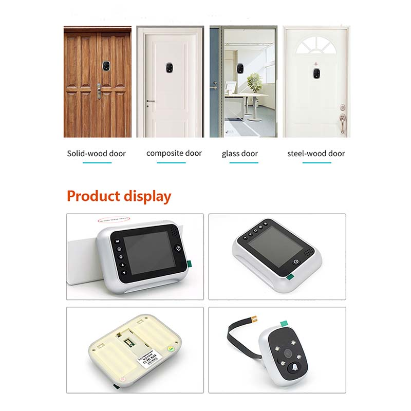 Eversunny digital door peephole power-saving for sliding door-6