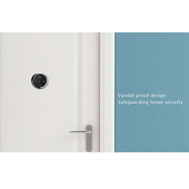 Smart digital door viewer with small cat eye and doorbell-5