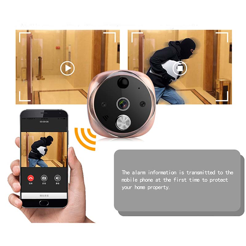Eversunny convenient wifi peephole door viewer digital HD for peepholecam-6