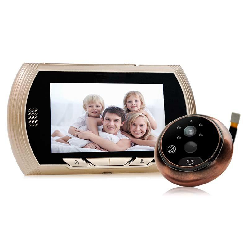 Remote control  digital HD visual wifi peephole  43HD