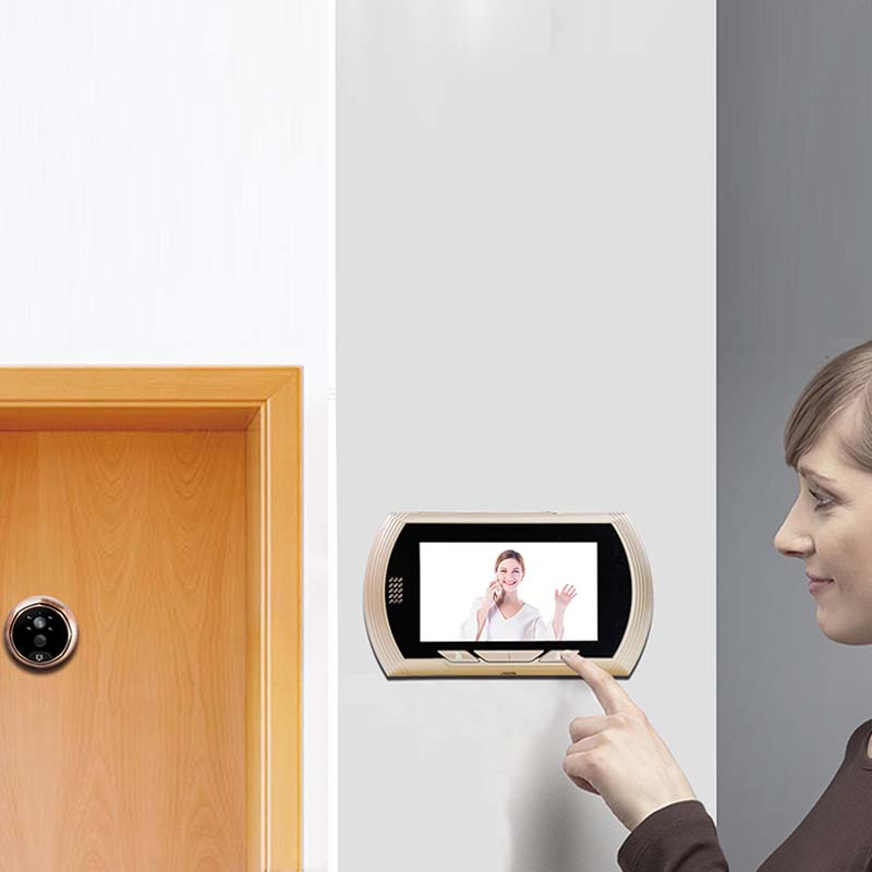 Eversunny control wifi door peephole prevent damage for office-4