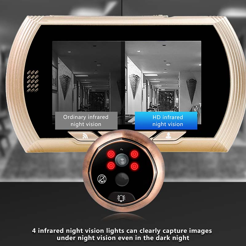 Eversunny digital wifi peephole viewer Video intercom for doorbell camera-5