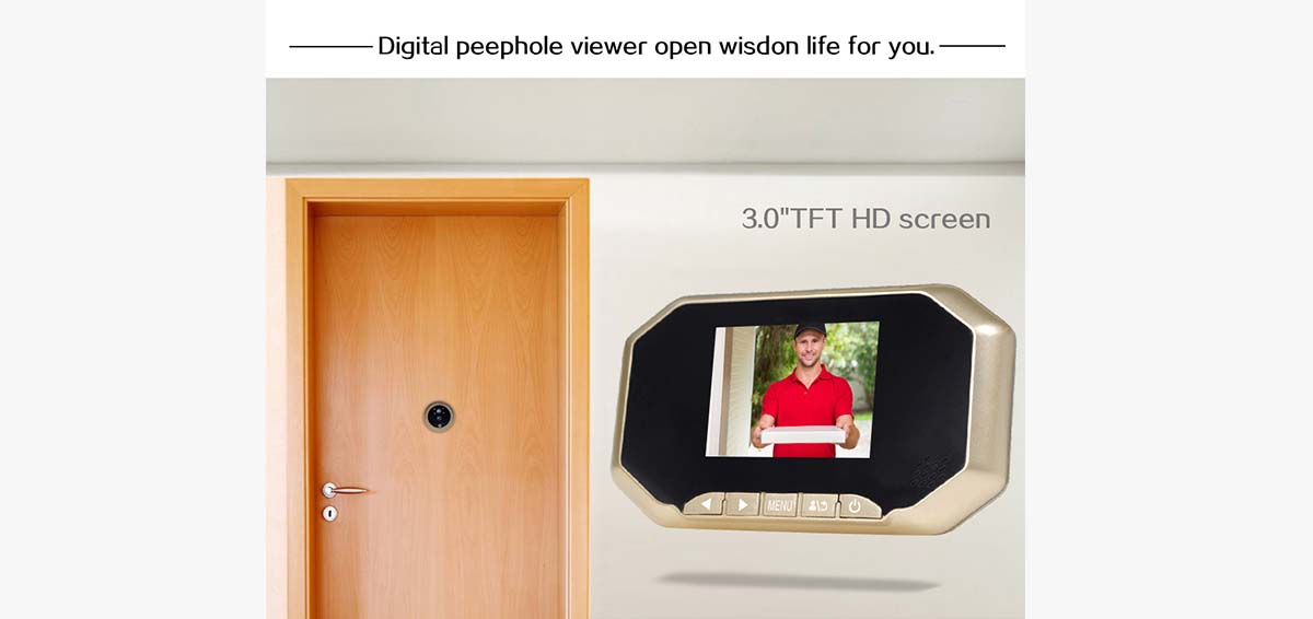 security door eye viewer LCD for home-2