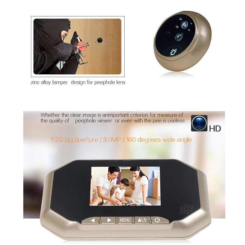 Eversunny door door eye viewer LCD for apartment-6