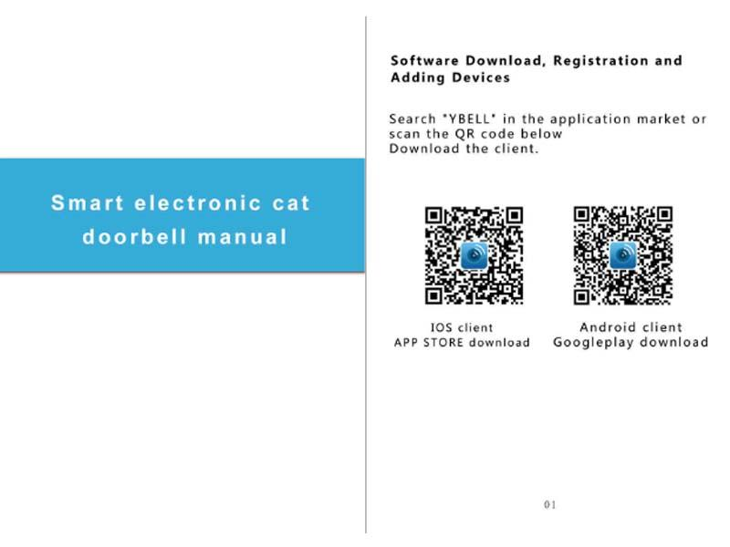 Wifi smart motion dection peephole App instruction 43HD