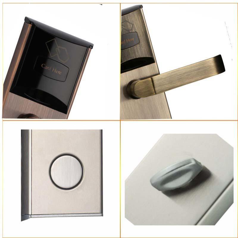 Digital Door Lock Card Key Unlock Stainless Steel  for hotel and apartment KB101