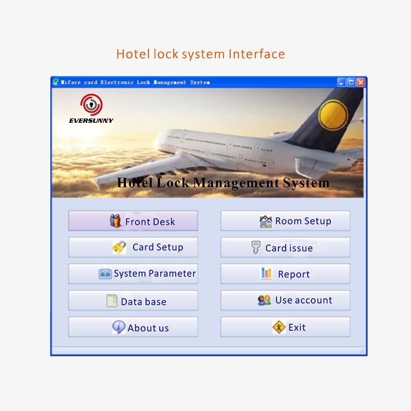 Eversunny door key card system with central management control system for hotel