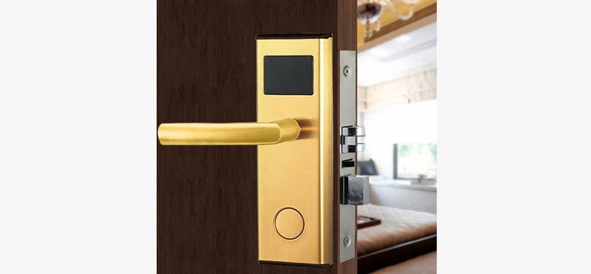 Electronic card access locks stainless steel for door
