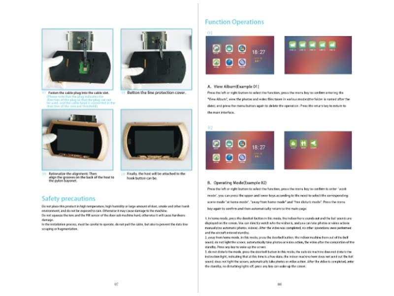 Digital visual doorbell manual 45AH