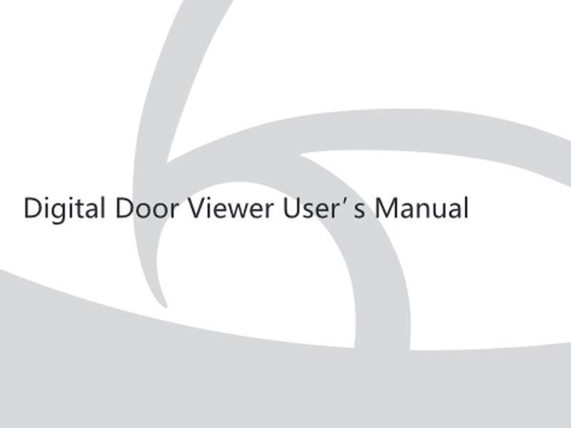 Intelligent cat's eye peephole door viewer user maual Y30