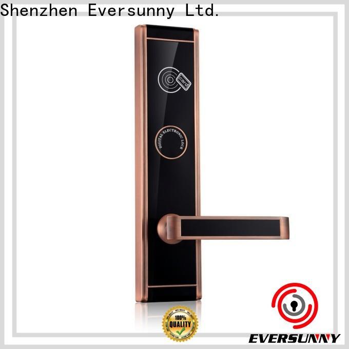 Eversunny fast hotel room key card system hotel smart locks for hotel