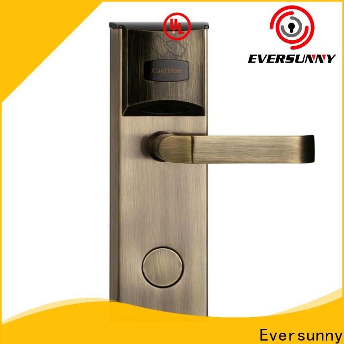 Eversunny card door lock stainless steel for hotel