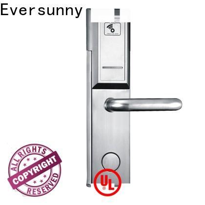 Eversunny key card door lock price stainless steel for door