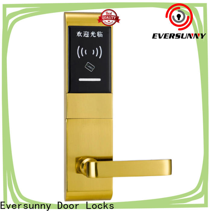 Eversunny smart card access door lock system hotel smart locks for hotel