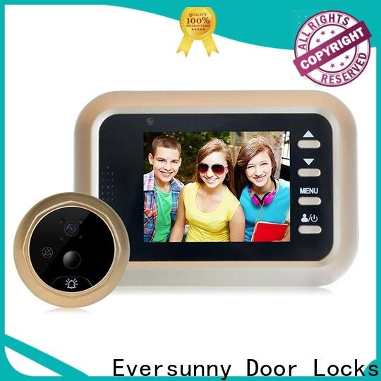 Eversunny professional digital peephole door viewer with motion sensor lens for apartment