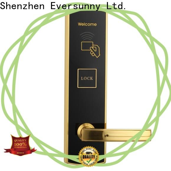 Eversunny smart key card door lock system international standard for apartment