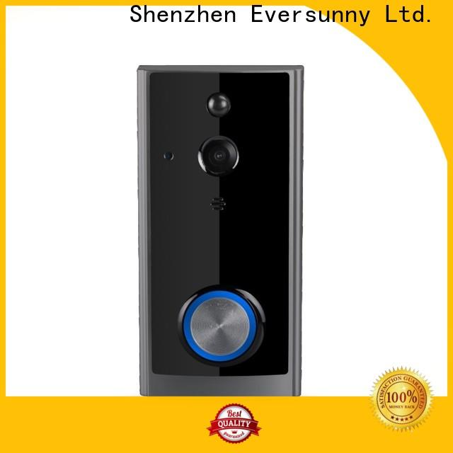 Eversunny practical wireless video doorbell with central management control system for home