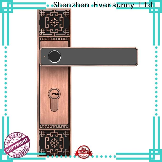 Eversunny fingerprint door lock system knob for apartment