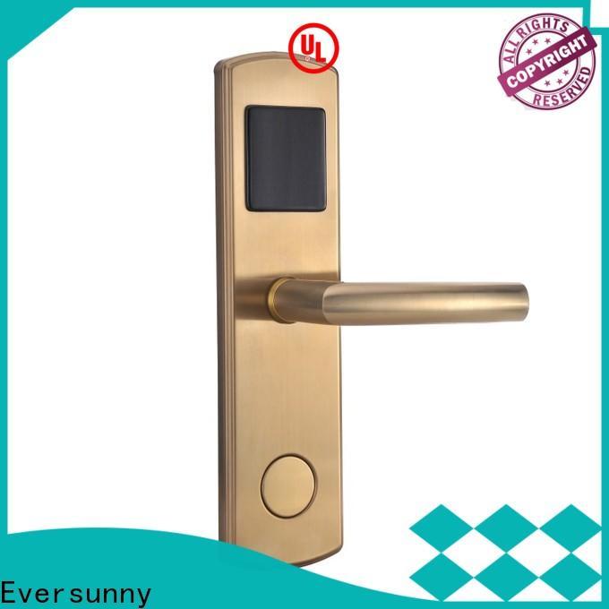 Eversunny reliable key card door lock system hotel smart locks for door