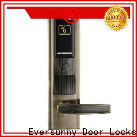 Eversunny reliable key card door lock hotel smart locks for door