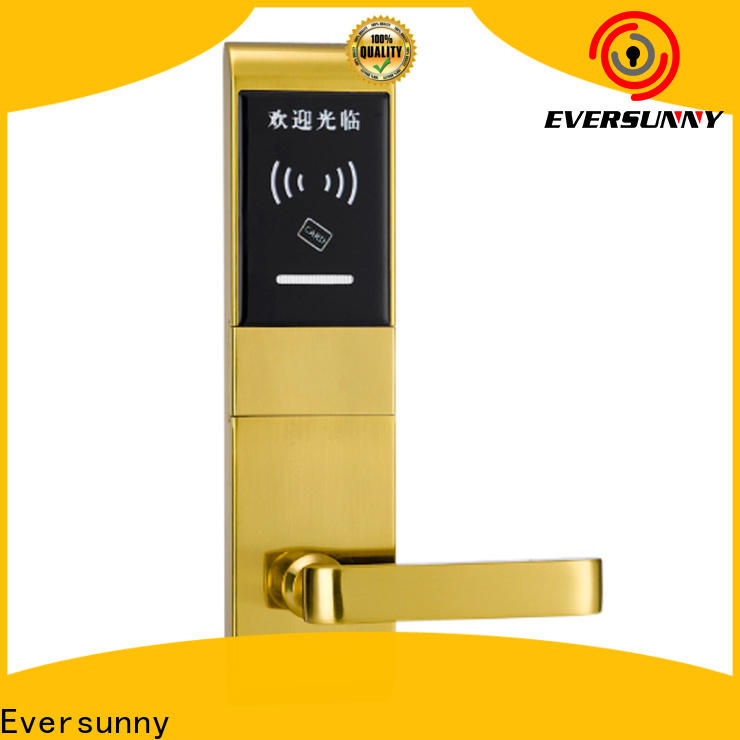 Eversunny swipe card door lock stainless steel for hotel