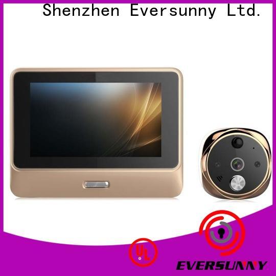 Eversunny Remote control digital peephole door viewer wifi digital HD for office