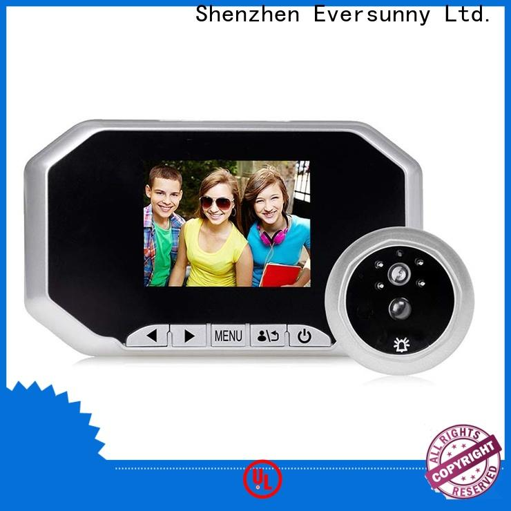 Eversunny motion activated digital peephole lens for front door