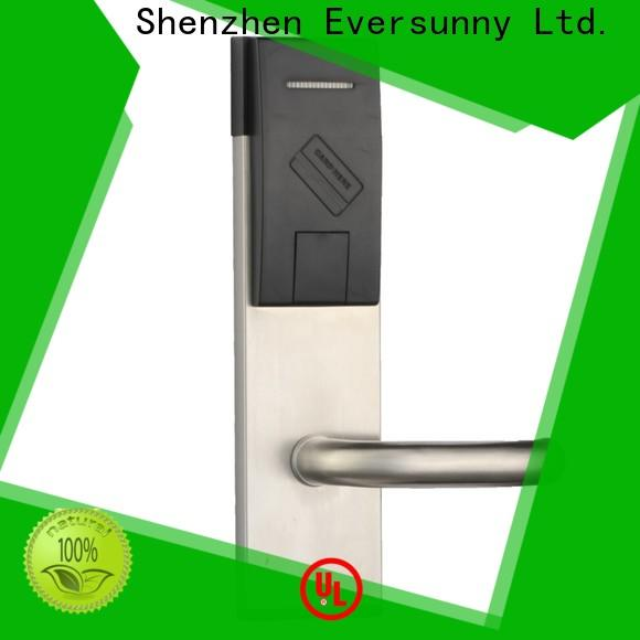 Eversunny rfid card door lock stainless steel for hotel