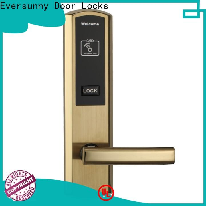Electronic card access door lock system with central management control system for home