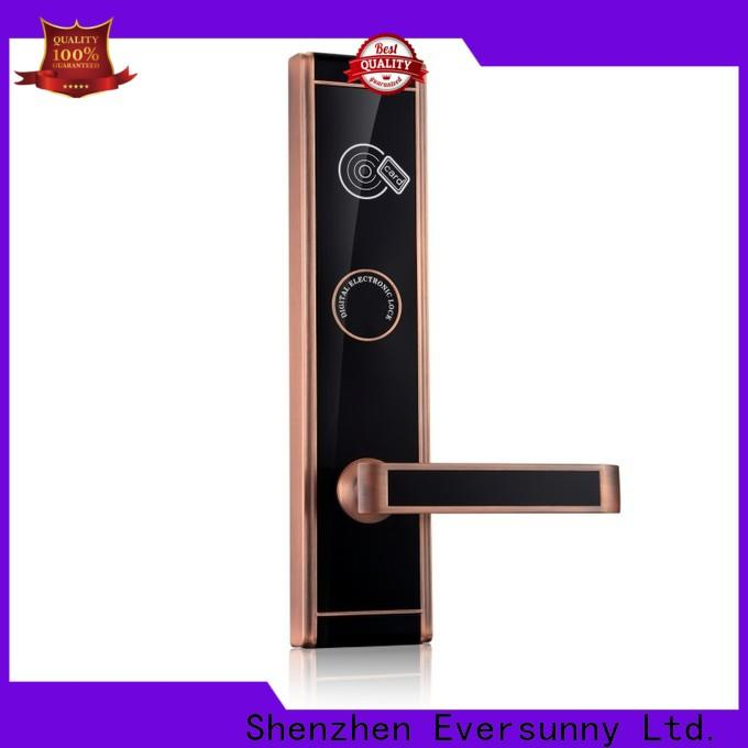 Eversunny rfid card door lock system stainless steel for apartment