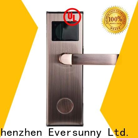Eversunny key card door lock price stainless steel for home
